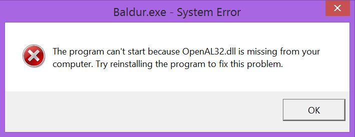 fix openal32.dll missing error