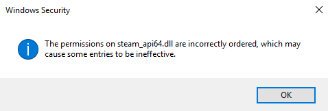 steam_api64.dll access is denied